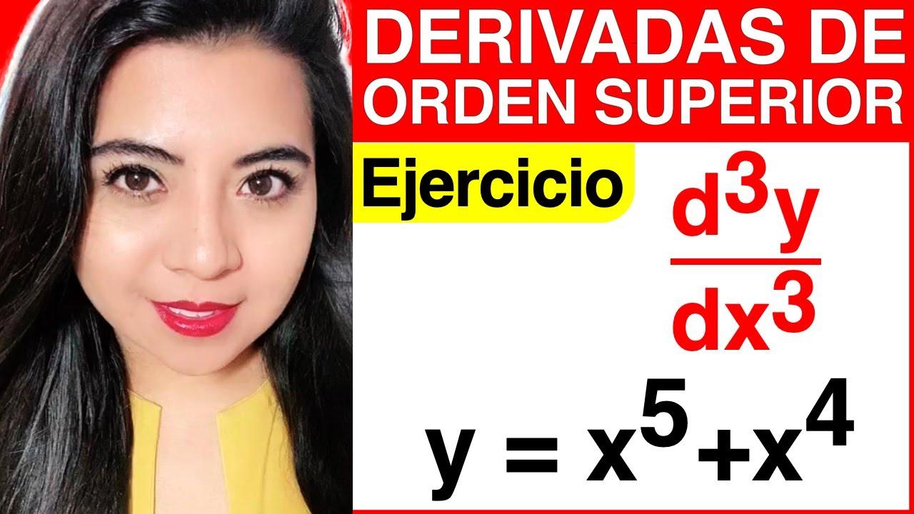 Download DERIVADAS DE ORDEN SUPERIOR - Ejercicio #3 (CÓMO SACAR LA TERCERA DERIVADA)