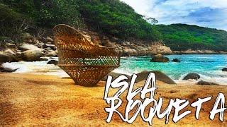 isla roqueta acapulco  una virgen en el mar