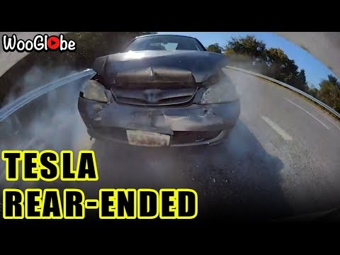 Tesla Rear End Car Crash With Honda Civic || Best Viral Videos