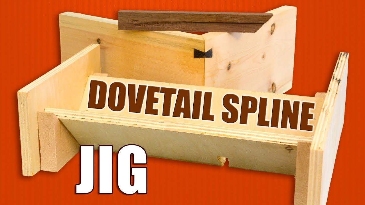 Making A Dovetail Spline Jig For The Router Table Splines Router Jig