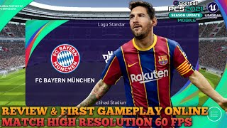 Review & Gameplay Online Match High Resolution 60 fps | eFootball Pes 2021 Mobile