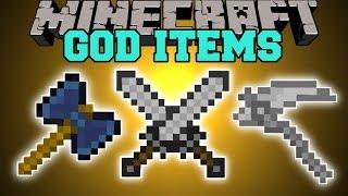Minecraft: GOD ITEMS (INCREASE DAMAGE, LIGHTNING ANNIHILATION, & MORE!) Mod Showcase