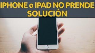Mi iPhone no prende, no se enciende iPad o iPhone con pantalla negra, no carga, muerto SOLUCIÓN ⚠ 