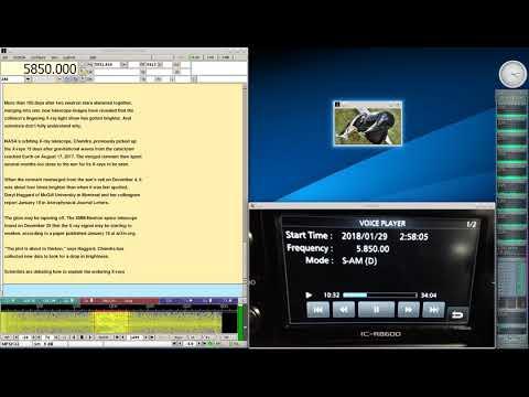 Shortwave Radiogram Jan 29 2018 on 5850Khz Shortwave Radio R8600