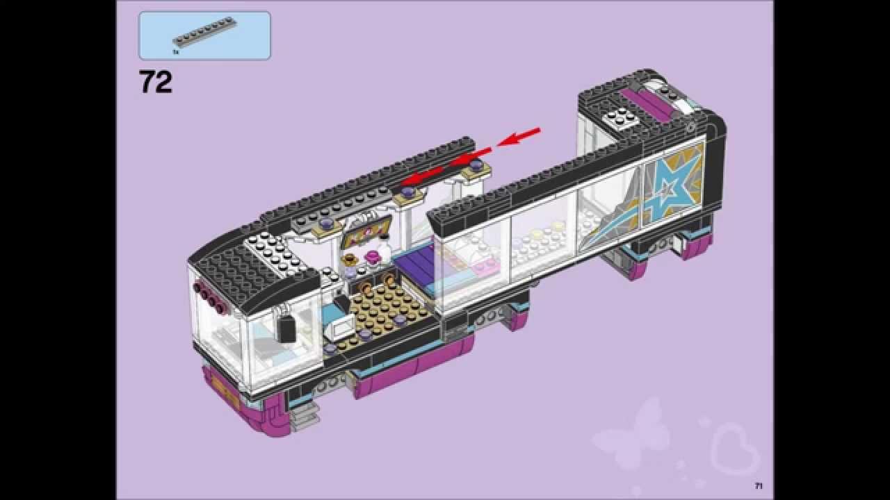 Lego Friends 41106 Pop Star Tour Bus Building Instructions Youtube