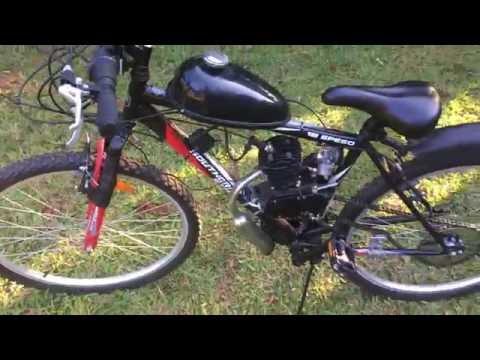 Fully Assembled 80cc Motorized Mountain Bike - 2 Stroke Petrol Engine