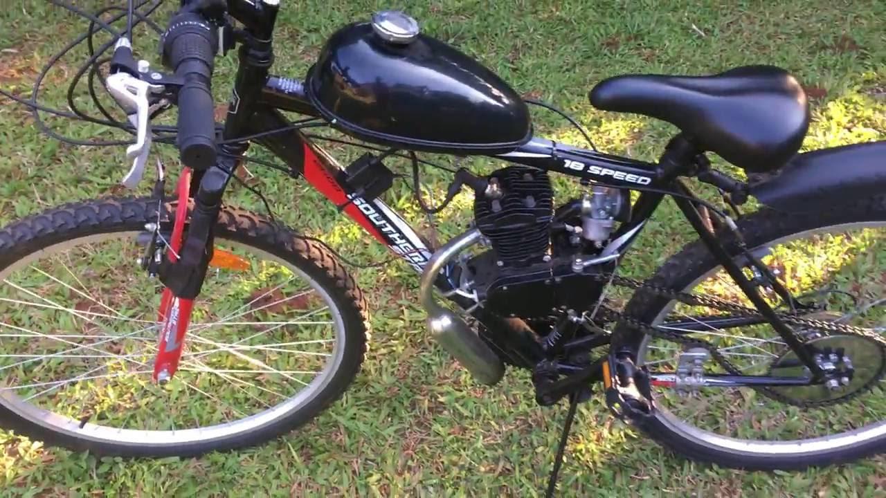 Fully Assembled 80cc Motorized Mountain Bike 2 Stroke