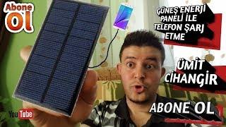 Güneş enerji paneli ile telefonu şarj etme  solar energy panel
