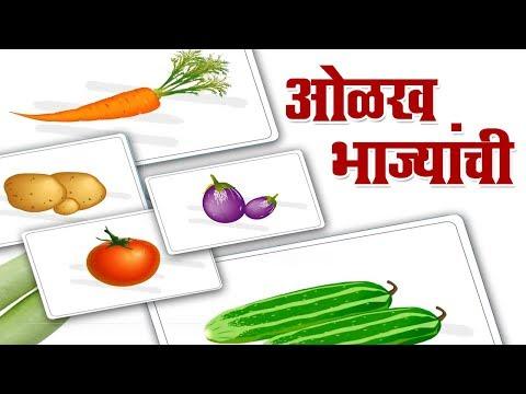 ओळख भाज्यांची | Olakh Bhajyanchi | Vegetables Name In Marathi | Marathi For Beginners |  Marathi