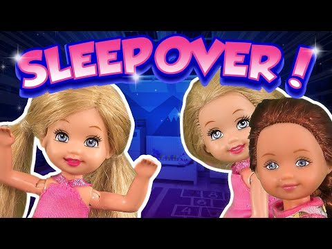 Barbie - The Twin's First Sleepover   Ep.214