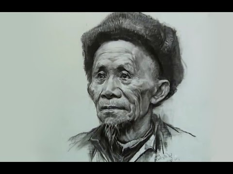 How to Draw Portrait of Old men #2