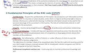 ACCA F1 - Professional Ethics