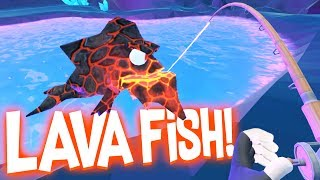 One of Blitz's most viewed videos: Catching Legendary Lava Fish in the Secret Underground Cave! - Crazy Fishing HTC Vive VR