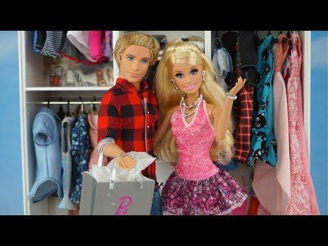 Vistiendo a Barbie y Ken con Nueva Ropa de Muñecas - Ropero de Barbie