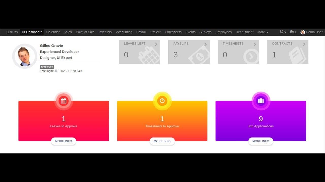 Odoo HR Dashboard - YouTube