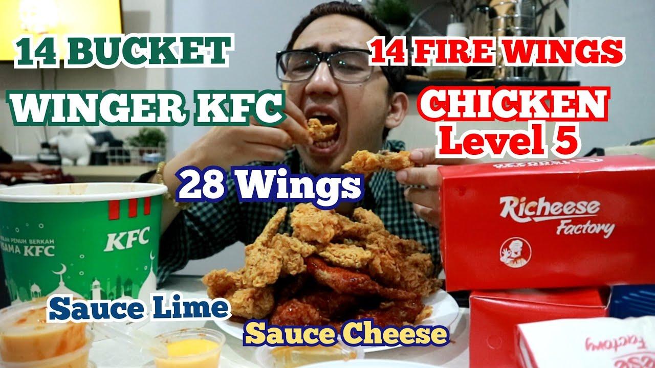 BATTLE WINGS||BUCKET WINGER KFC VS FIRE WINGS CHICKEN ...