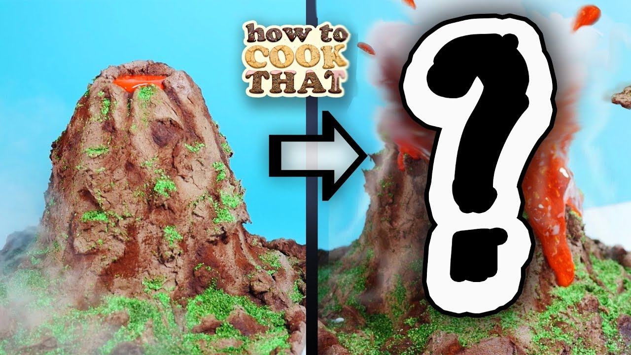 a-working-volcano-cake-eruption-experiment-how-to-cook-that