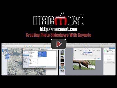 Creating Photo Slideshows With Keynote (#991)