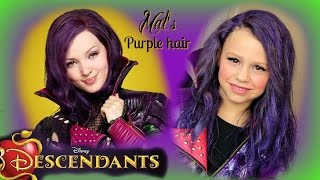 PURPLE HAIR! Descendants Mal Hair (Part 1 Costume)
