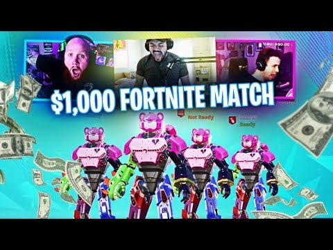 $1000 FORTNITE MATCH!! FT. COURAGE, DRLUPO & JORDAN FISHER