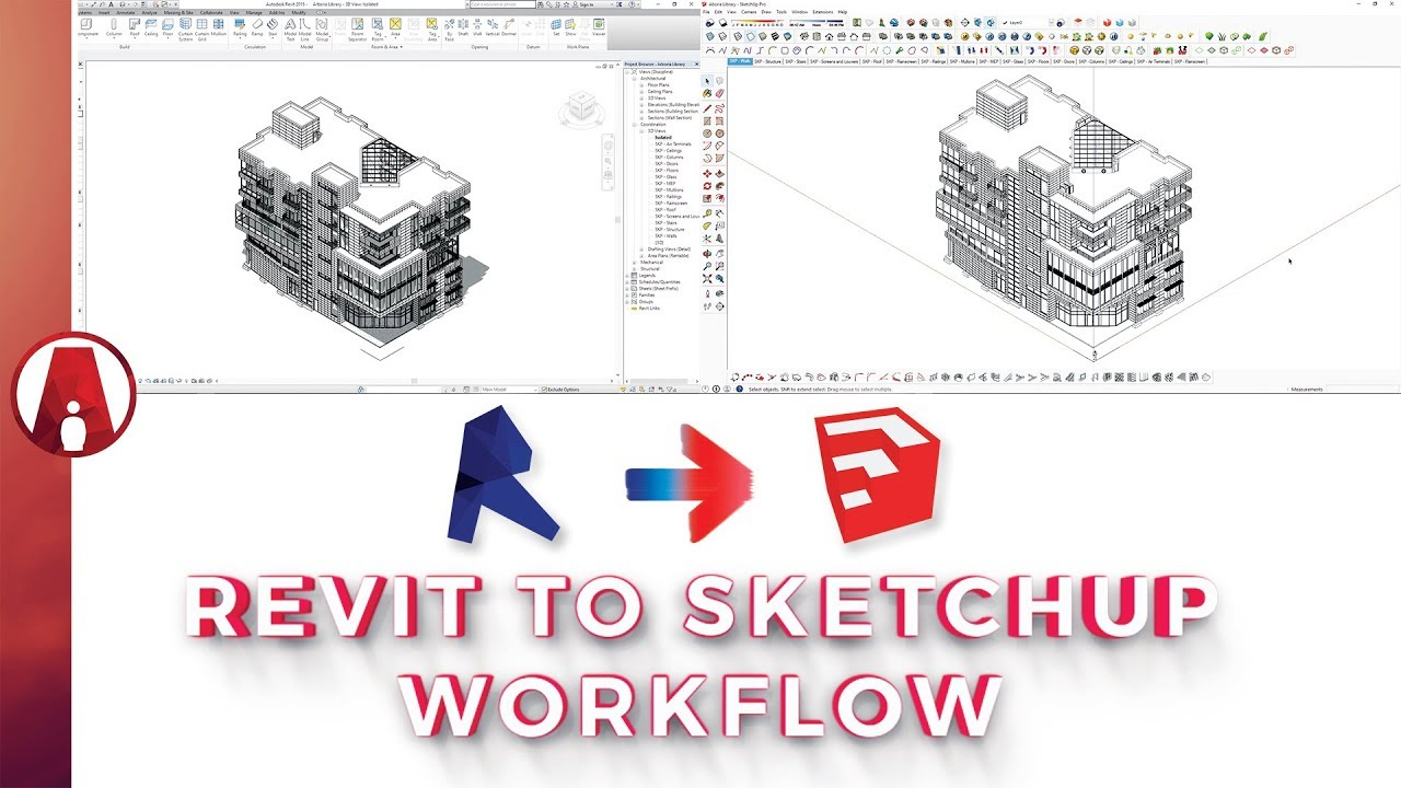 Best way to Export a Revit model to Sketchup