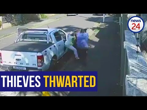 WATCH: Owner Hauls Would-be Thief Out Of His Bakkie