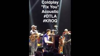 [11/13/15] Coldplay on KROQ's snapchat @ The Belasco Theater