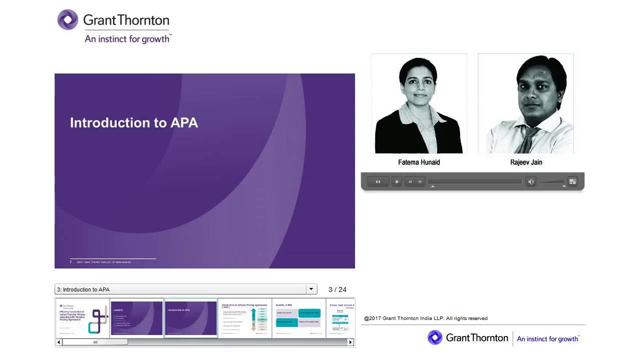 Grant Thornton Webinar Avoidance Of Transfer Pricing Disputes With