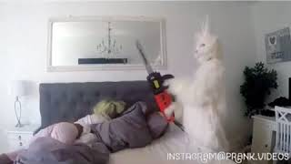 prank videos funny scary 2017  part 10 - frightening moments when a rabbit with a chainsaw