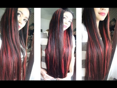 Red Streaks On My Hair Youtube