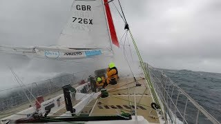 Racing into a force 12 storm in the Southern Atlantic - Ep105 - The Sailing Frenchman
