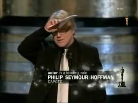 Phillip Seymour Hoffman winning Best Actor for Capote