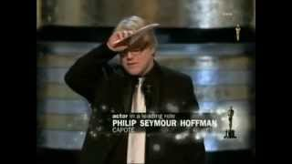 Repeat youtube video Phillip Seymour Hoffman winning Best Actor for Capote