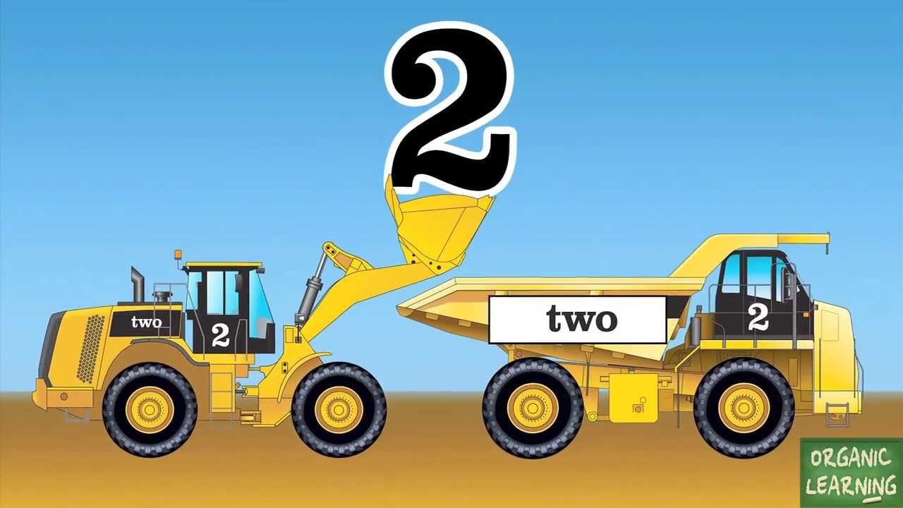 wheel loaders dump trucks teaching numbers 1 to 10 learning number counting for kids youtube. Black Bedroom Furniture Sets. Home Design Ideas