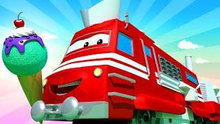 Troy der Zug -  Der Eiscremezug  - Autopolis 🚄 Lastwagen Zeichentrickfilme für Kinder