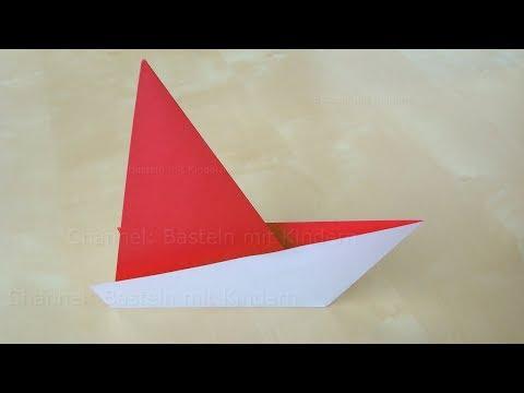 Origami Segelboot Falten Einfaches Origami Schiff Basteln Mit Papier