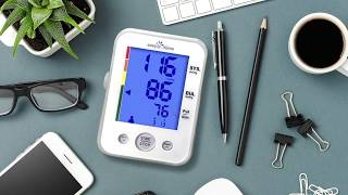 How To Use Bl๐od Pressure Monitor | easy@Home EBP-095 With 3 Color Hypertension Alert