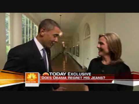 Obama Asked About His Mom Jeans