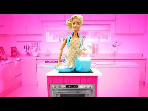 Куклы Барби. Игры для девочек, как Барби готовит ужин. Лучшие рецепты куклы
