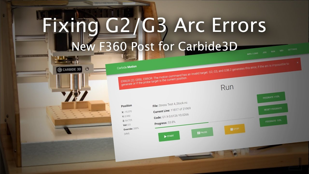 Fixing GRBL's G2/G3 Arc Errors in Fusion360