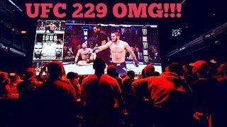 Mayhem in the bar after end of UFC 229 Conor McGregor loss to Khabib Nurmagomedov