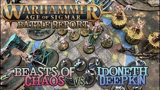 Warhammer: Age of Sigmar Battle Report - Ep 23 - Idoneth Deepkin vs. Beasts of Chaos