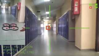 AR.Drone control based on vanishing point for yaw control -