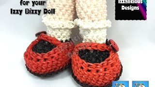 Loomigurumi Izzy Bizzy Doll - MaryJane Shoes - hook only - amigurumi with Rainbow Loom Bands