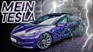Tesla Model 3 wird zum Bad Boy! 😈 | Folierung | Tesla Tuning #5