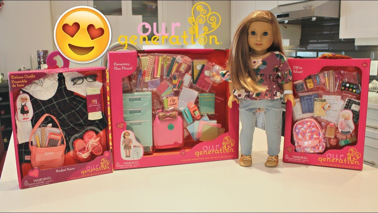 Our Generation School Sets Haul Unboxing Review Youtube