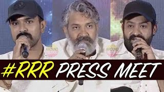FULL VIDEO : RRR Movie Press Meet..Jr NTR..Ram Charan..SS Rajamouli..RRR Real Story Revealed