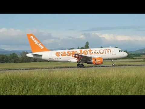 30 EasyJet landindgs and take offs compilation at Euroairport Basel Mulhouse Freiburg