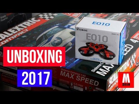 UNBOXING Y NUEVA SECCIÓN EN MUNDODRON!! Coches Scalextric compact  , hexbug nano v2 y Eachine E010