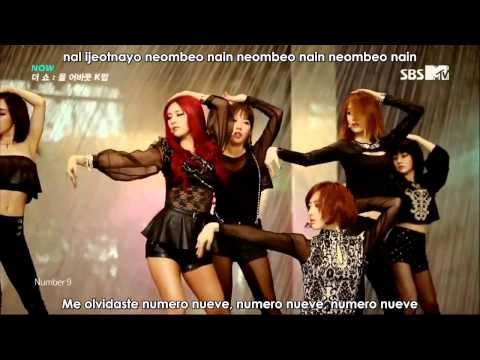 [Sub español] HD T-ARA - Number 9 live @ MTV the Show [Romanizacion]